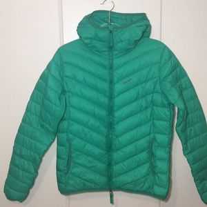 Skhoop Green Down Jacket With Two-Way Zipper Sz L